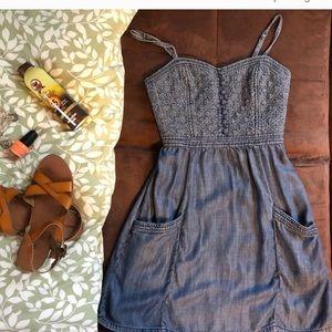 American eagle jean dress